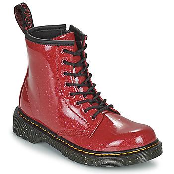 Sapatos Rapariga Botas baixas Dr Martens 1460 J Vermelho