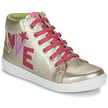 Sapatos Rapariga Sapatilhas de cano-alto Agatha Ruiz de la Prada FLOW Bege / Rosa