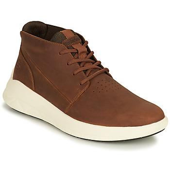 Sapatos Homem Sapatilhas de cano-alto Timberland BRADSTREET ULTRA PT CHK Castanho