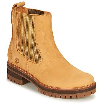 Sapatos Mulher Botas baixas Timberland COURMAYEUR VALLEY CHELSEA Trigo