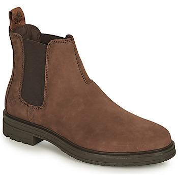 Sapatos Mulher Botas baixas Timberland HANNOVER HILL CHELSEA Castanho