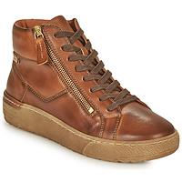 Sapatos Mulher Sapatilhas de cano-alto Pikolinos VITORIA Castanho