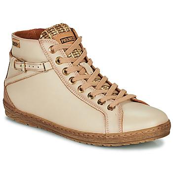 Sapatos Mulher Sapatilhas de cano-alto Pikolinos LAGOS Bege