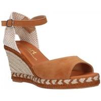 Sapatos Mulher Sandálias Paseart ADN-s A383 coñac Mujer Cuero marron
