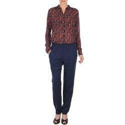 Textil Mulher Calças finas / Sarouels Marc O'Polo ALBA Azul / Escuro / Vermelho