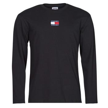 Textil Homem T-shirt mangas compridas Tommy Jeans TJM LS TOMMY BADGE TEE Preto