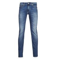 Textil Homem Calças de ganga slim Tommy Jeans SCANTON SLIM AE136 MBS Azul