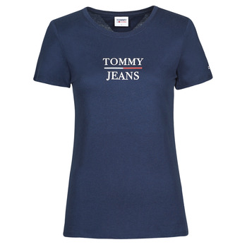 Textil Mulher T-Shirt mangas curtas Tommy Jeans TJW SKINNY ESSENTIAL TOMMY T SS Marinho