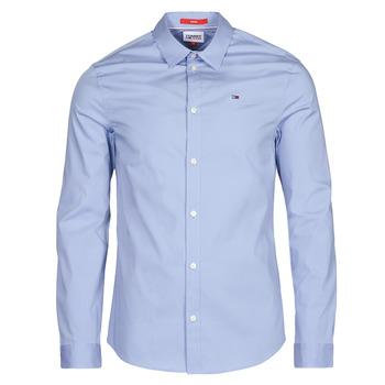 Textil Homem Camisas mangas comprida Tommy Jeans TJM ORIGINAL STRETCH SHIRT Azul