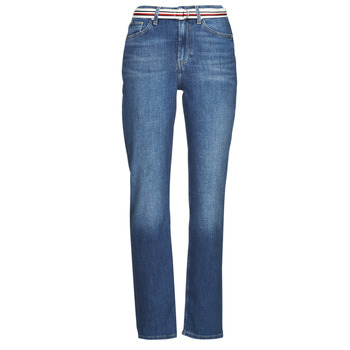 Textil Mulher Calças Jeans Tommy Hilfiger NEW CLASSIC STRAIGHT HW A LEA Azul