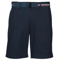 Textil Homem Shorts / Bermudas Tommy Hilfiger BROOKLYN LIGHT TWILL Marinho