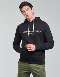 Textil Homem Sweats Tommy Hilfiger TOMMY LOGO HOODY Preto