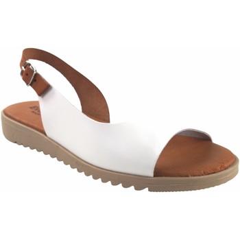 Sapatos Mulher Sandálias Eva Frutos Sandalia señora  1205 blanco Castanho