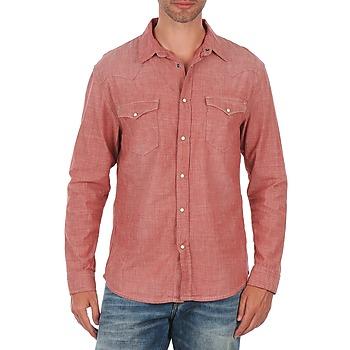 Textil Homem Camisas mangas comprida Selected Doha shirt ls r J Vermelho