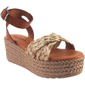Sapatos Mulher Alpargatas Eva Frutos Sandalia señora  2011 beig Castanho