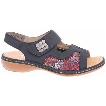 Sapatos Mulher Sandálias Rieker 6598914 Vermelho, Cinzento, Grafite