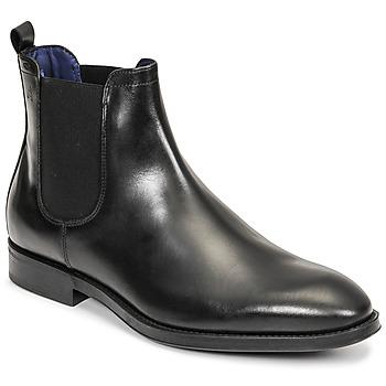 Sapatos Homem Botas baixas Azzaro SEVILLE Preto