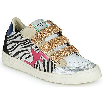 Sapatos Mulher Sapatilhas Serafini SAN DIEGO Ouro / Branco / Preto
