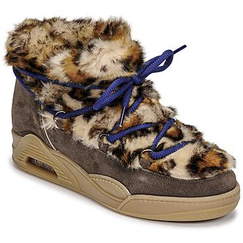 Sapatos Mulher Botas baixas Serafini MOON LOW Leopardo