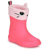Sapatos Rapariga Botas de borracha Isotoner 99314 Rosa