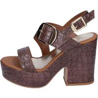 Sapatos Mulher Sandálias Sara Collection Sandálias BJ924 Castanho