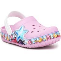 Sapatos Rapariga Tamancos Crocs FL Star Band Clog 207075-6GD purple