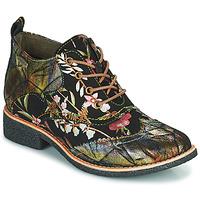 Sapatos Mulher Botas baixas Laura Vita COCRALIEO Preto / Verde / Rosa