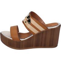 Sapatos Mulher Chinelos Sara Collection Sandálias BJ939 Castanho