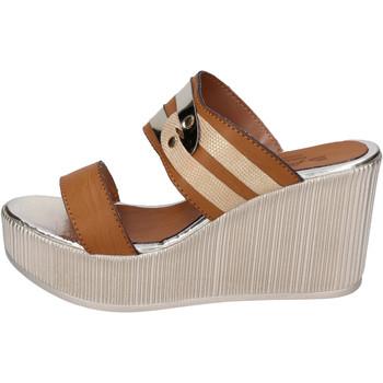 Sapatos Mulher Chinelos Sara Collection Sandálias BJ940 Castanho