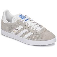 Sapatos Sapatilhas adidas Originals GAZELLE Cinza / Creme