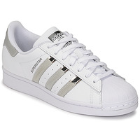Sapatos Mulher Sapatilhas adidas Originals SUPERSTAR W Branco / Prateado