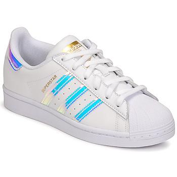 Sapatos Mulher Sapatilhas adidas Originals SUPERSTAR W Branco / Iridescente