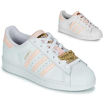 Sapatos Mulher Sapatilhas adidas Originals SUPERSTAR W Branco / Rosa / Joia