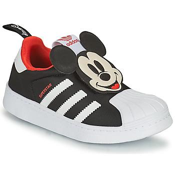 Sapatos Rapaz Sapatilhas adidas Originals SUPERSTAR 360 C Preto / Mickey