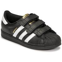 Sapatos Criança Sapatilhas adidas Originals SUPERSTAR CF C Preto / Branco