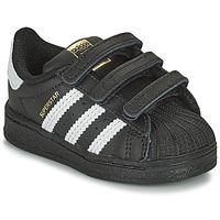 Sapatos Criança Sapatilhas adidas Originals SUPERSTAR CF I Preto / Branco