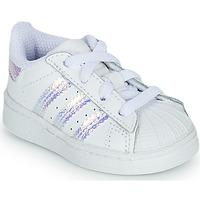 Sapatos Rapariga Sapatilhas adidas Originals SUPERSTAR EL I Branco / Iridescente