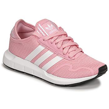 Sapatos Rapariga Sapatilhas adidas Originals SWIFT RUN X J Rosa / Branco