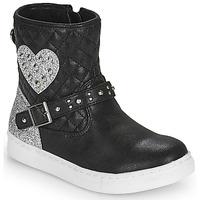 Sapatos Rapariga Botas baixas Primigi B&G LUX Preto / Prata