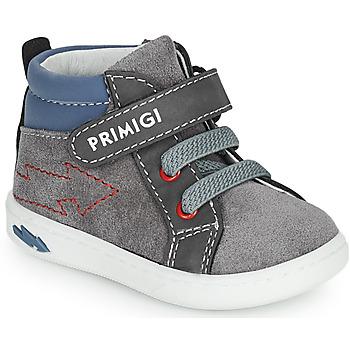 Sapatos Rapaz Sapatilhas de cano-alto Primigi BABY LIKE Cinza / Azul