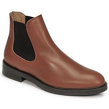 Sapatos Homem Botas baixas Selected CHELSEA Conhaque