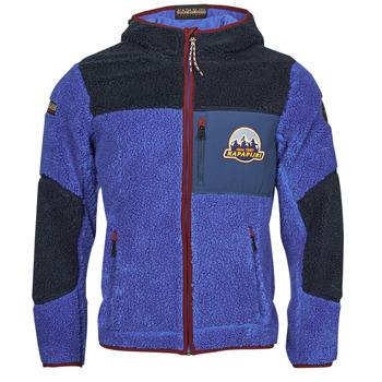 Textil Homem Casaco polar Napapijri YUPIK Marinho / Azul