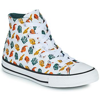 Sapatos Criança Sapatilhas de cano-alto Converse CHUCK TAYLOR ALL STAR DINO DAZE HI Branco / Verde / Laranja