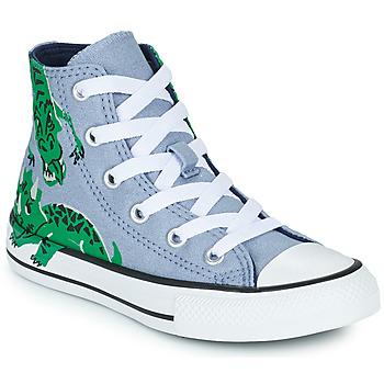Sapatos Criança Sapatilhas de cano-alto Converse CHUCK TAYLOR ALL STAR DINO DAZE HI Azul / Verde