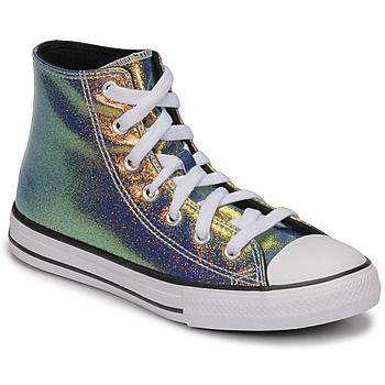 Sapatos Rapariga Sapatilhas de cano-alto Converse CHUCK TAYLOR ALL STAR IRIDESCENT GLITTER HI Prata