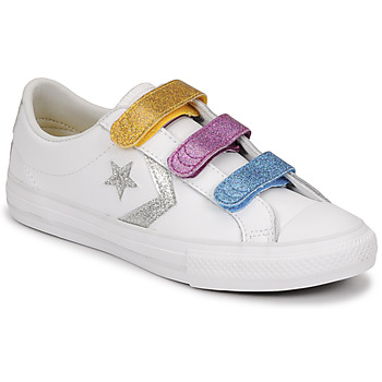 Sapatos Rapariga Sapatilhas Converse STAR PLAYER 3V GLITTER TEXTILE OX Branco / Multicolor