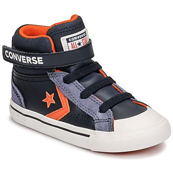 Sapatos Criança Sapatilhas de cano-alto Converse PRO BLAZE STRAP LEATHER TWIST HI Azul