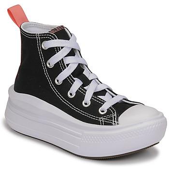 Sapatos Rapariga Sapatilhas de cano-alto Converse CHUCK TAYLOR ALL STAR MOVE CANVAS HI Preto / Rosa