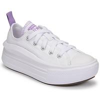 Sapatos Rapariga Sapatilhas Converse CHUCK TAYLOR ALL STAR MOVE CANVAS OX Branco / Rosa