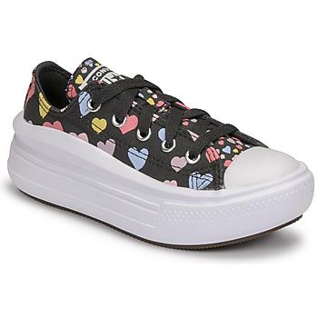 Sapatos Rapariga Sapatilhas Converse CHUCK TAYLOR ALL STAR MOVE ALWAYS ON HEARTS OX Preto / Multicolor